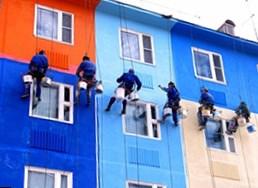 Покраска фасада и цена работ в Москве