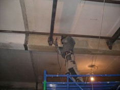 Промышленный альпинизм - ремонт потолка