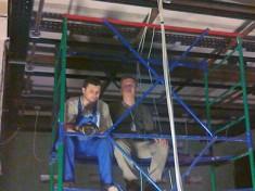 Промышленный альпинизм - ремонт потолка 1