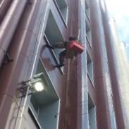 Технология монтажа наружного освещения альпинистами